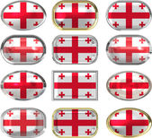 Twelve buttons of the Flag of Georgia — Stock Photo