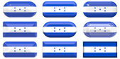 Glass buttons of the Flag of Honduras — Stock Photo