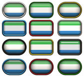 Buttons of the Flag of Sierra Leone — Stock Photo