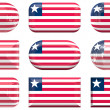 Buttons of the Flag of Liberia — Stock Photo
