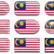 Buttons of the Flag of Malaysia — Stock Photo