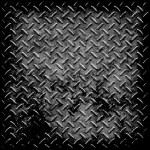 Diamond plate metal texture — Stock Photo