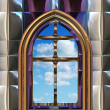 Gothic or scifi window with blue sky — Zdjęcie stockowe #2092389