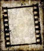 Grungy film strip or photo negative — Stock Photo
