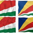 Flag of the Seychelles — Stock Photo