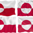 Flag of Greenland — Stock Photo #2225368