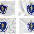 Flag of massachusetts — Stock Photo