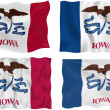 Flag of Iowa - Lizenzfreies Foto