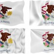 Flag of illinois — Stok Fotoğraf #2354782