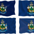 Stock Photo: Flag of Maine