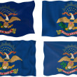 Flag of North Dakota — Stockfoto #2355301