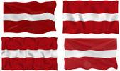 Flag of Latvia — Stock Photo