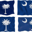 Flag of South Carolina - Stock Photo