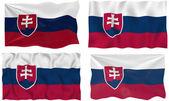 Bandera de eslovaquia — Foto de Stock