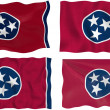 Stock Photo: Flag of Tennessee