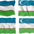 Stock Photo: Flag of uzbekistan