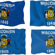 Flag of Wisconsin — Stock Photo #2400081