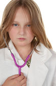 Young girl wants to be a doctor — Foto de Stock