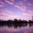 River murray sunset — Stock Photo