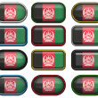 Buttons of the Flag of afghanistan — Stock Photo