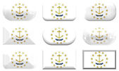Buttons of the Flag of Rhode Island — Stock Photo