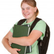 Girl ready for college — Stock Photo