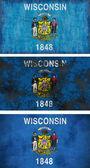 Flag of Wisconsin — Stock Photo