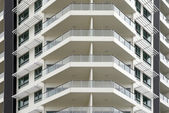 Balconies on this office building — Stock Photo