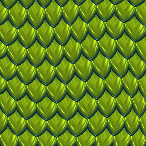 Green dragon scales background — Stock Vector #2602796