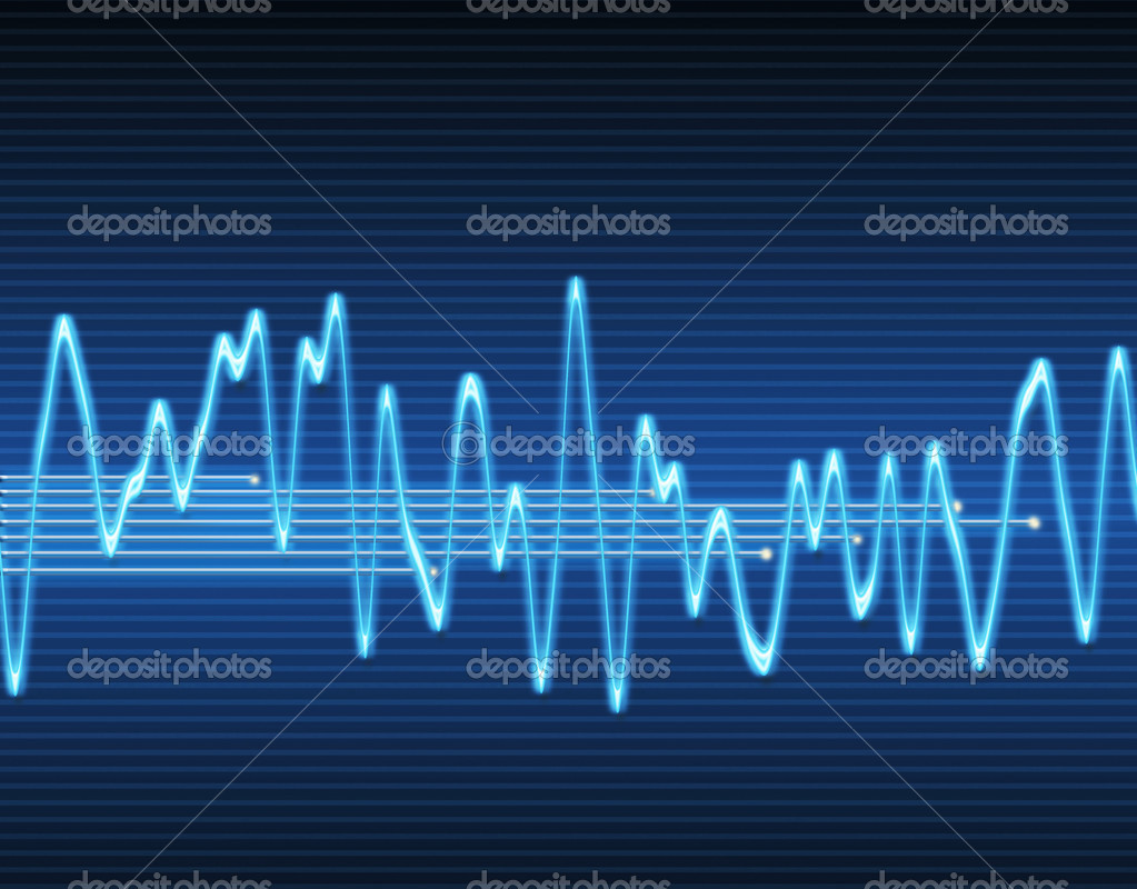 Large image of an electronic sine sound or audio wave   Stock Vector #2615452