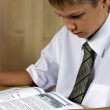 The schoolboy the teenager — Stock Photo
