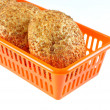 The rolls with bran lay in the container — Stock Photo