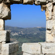 Hole in castle wall, Syria — Stock Photo #1063283