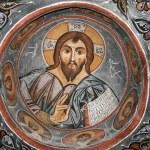Fresco in the Dark Church — Stock Photo #1063735