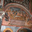 Fresco in the Dark Church — Stock Photo
