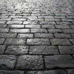 Paving blocks after rain — Stock Photo