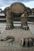 Ruined statue in Angkor Wat — Photo