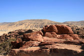 Petra red rocks — Stock Photo