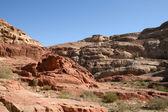 Rochas de Petra vermelho — Fotografia Stock