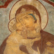 Painted Russian church ceiling — Stock Photo