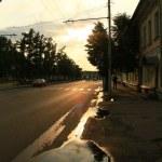 Sunset puddle — Stock Photo #1090371