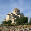Crimea, Chersonese church — Stock Photo