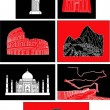 7 wonder of the world — Imagen vectorial