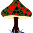 Royalty-Free Stock Vector Image: Gambling mushroom