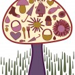 Magic mushroom - Stock Vector