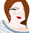 Girl with freckles — Stock Vector #1126203