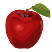 Red nice apple — Stock Vector