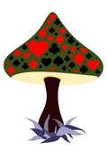 Gambling mushroom — Stock Vector