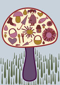 Magic mushroom — Vector de stock
