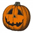 Halloween pumpkin sketch — Stock Vector